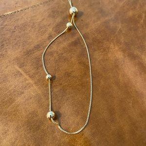 COS Adjustable Gold Ball Necklacs